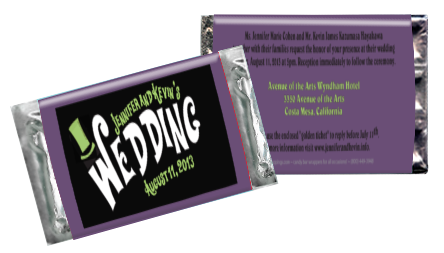 Wonka wedding purple