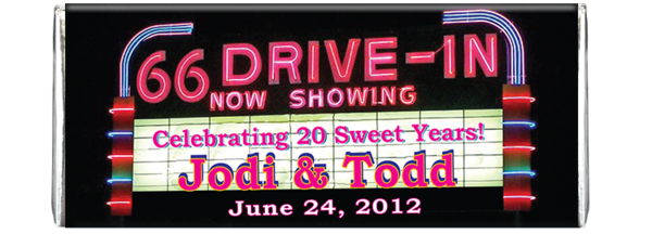 Newdrivein  aniversary front silver